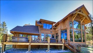 Big Sky house photo - Exterior View of the Back of the Home - Big Deck with Hot Tub & Gas Grill