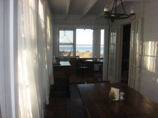 Seaview house photo - Large table in dining room plus porch dining.