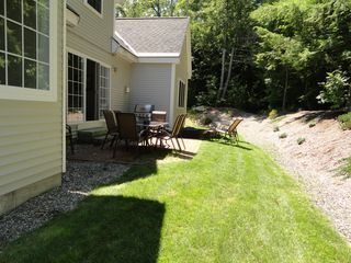 Laconia house photo - Private back patio, seats 8+2, gas grill, abuts state forest