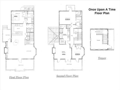 Once Upon A Time floor plan: 4 Bedroom, 3 1/2 Bath + Tower