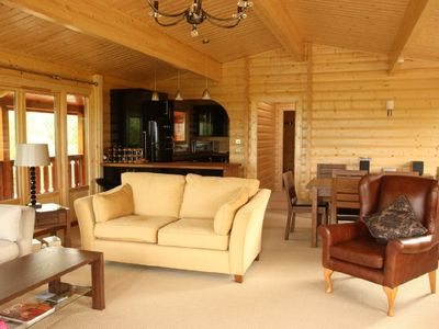 Luxurious Lodge with stunning coastal views over the estuary and Kippford