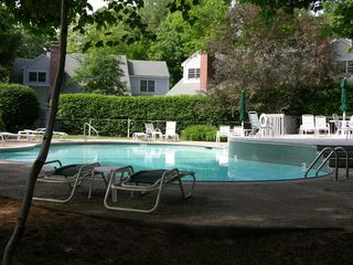 Laconia townhome photo - The private Golf Village Pool, Rental Unit in the background