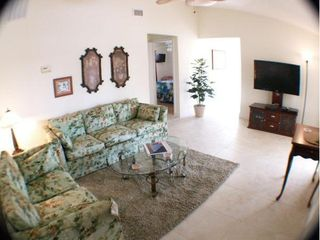 Cape Coral villa photo - Living room with slider to lanai