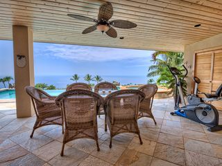 Kailua Kona house photo - Ample covered dining space for six people on the lanai.