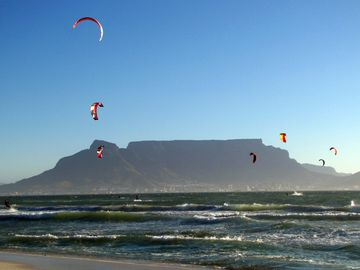 Kite-surfing in the bay