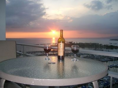 Sit on our Lanai and enjoy a peaceful and beautiful sunset!
