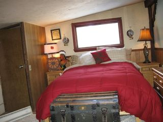 Newfound Lake cabin photo - 1 of 3 bedrooms. Two queen size beds and one full. Plus beds in Tents.