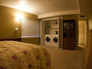 Master bedroom with laundry