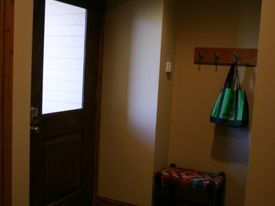 This is the main door, which is on the same level as the bunk and laundry rooms