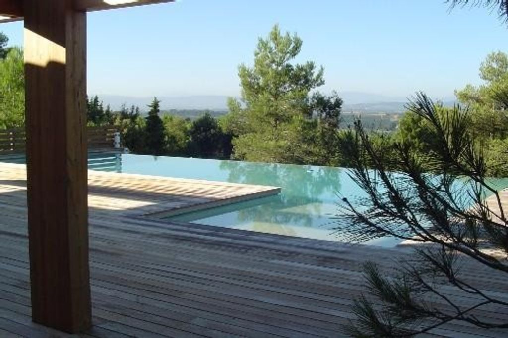Contemporary architect villa standing large pool, view 7 km Carcassonne