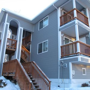 Anchorage condo rental - Building view in the winter