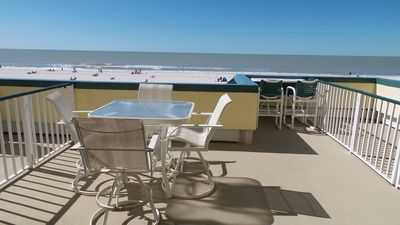 Extended Patio with view of Marco Beach and The Gulf of Mexico