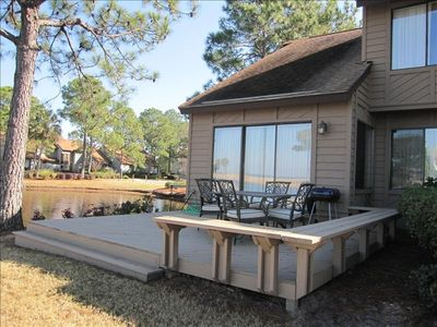 End Unit with privacy and spacious deck to sit back and enjoy