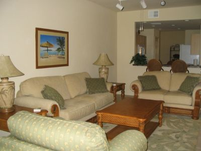 Spacious Living Area - Picture also peeks at Kitchen and on further-Dining Room
