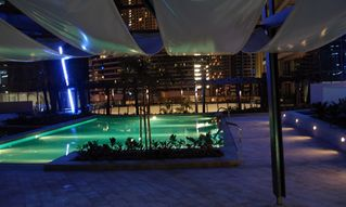 Dubai Marina & Al Sufouh apartment photo - Pool area night