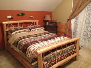 Heber City cabin photo - Upstairs Bedroom (Full & Single Bed)
