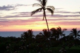 Kailua Kona condo rental - Great sunsets from the lanai