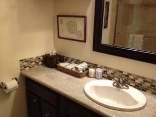 Malibu condo photo - Totally remodeled bathroom -- new granite countertops, tile and sink!