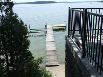 Dock patio and swim ladder