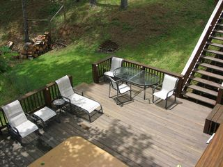 Burnsville cabin photo - Lido Deck and Firepit