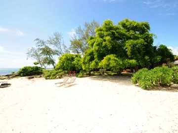 East Coast Mauritius villa rental - beach in front of villa Dosol