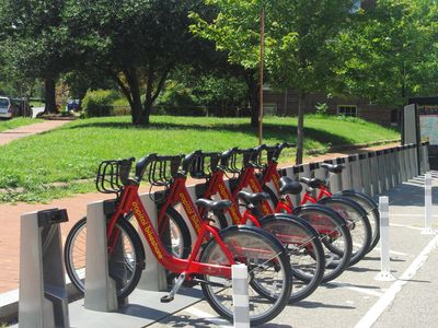 Public bicycles are available close by.