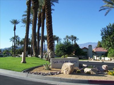 San Felipe Drive, our charming street with views and wonderful neighbors.