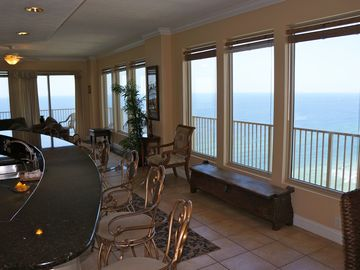 23rd floor condo with gulf view all around.