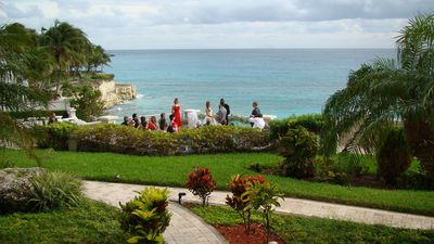A bride's special day set in paradise! 'I do's' exchanged on The Cliff's terrace