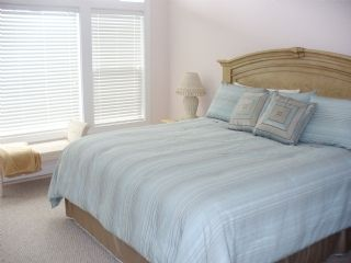 Surf City townhome photo - King Bedroom has fabulous ocean view, private bath, cable tv/dvd