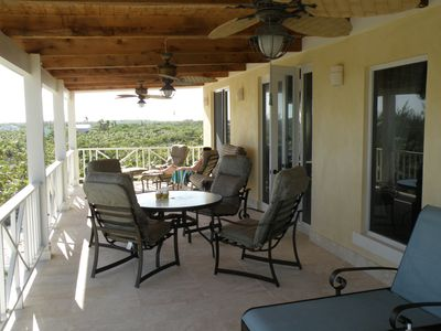 Little Exuma villa rental - upstairs patio