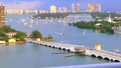 MIAMI Magic Bay View from balcony: Venetian Causeway, etc. MIAMI Vacation Rental