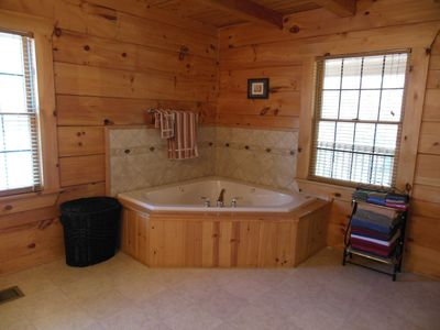 Master bathroom with jacuzzi tub for 2 and 2 person walk in shower