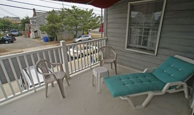 Covered Balcony with Loungers