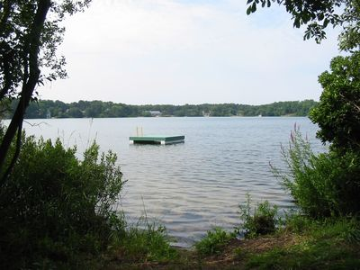 Eastham cottage rental - Private float on Herring Pond