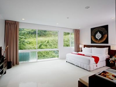 Surin beach apartment rental - Master bedrooom from entrance