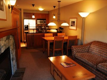 Alpine Meadows apartment rental - Living, dining, kitchen