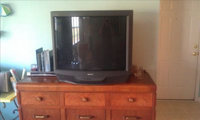 large Sony tv wiht DVD player