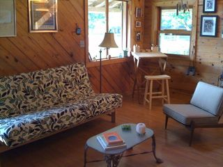 Breaux Bridge cottage photo - Another view of our comfortable and spacious Living Room with drawing table.