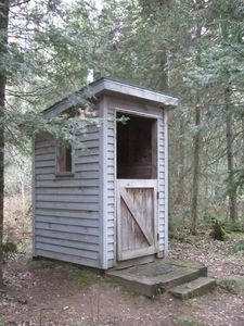 """State of the Art"" odorless Outhouse-with-a-View"