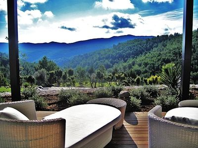Sant Jordi villa rental - Can Ceilo stunning view