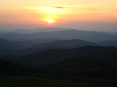 Sunset at Max Patch Bald. 5 miles from cabin.
