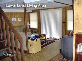 Huddleston property rental photo - Lower level family room