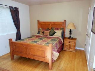 Moab townhome photo - Second bedroom finished with bamboo flooring to keep the unit cool and clean.