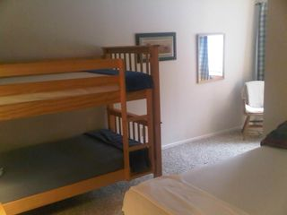 Warren condo photo - 2nd Bedroom; Bunk beds; Full bed; Space for inflatable bed (provided)
