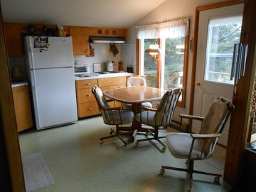Fully equipped kitchen with a great view of the lake