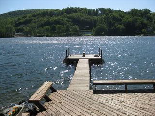 New Milford house photo - Lake Deck and Dock