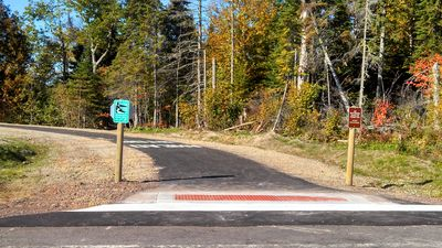Gitchi-Gami state trail just opened 1/4 a mile down Ski Hill Road from our home!