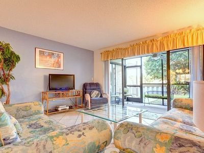 Ground floor unit is beautifully furnished with new HDTV