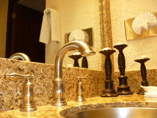 Cancun condo photo - Granite and Stainless in bath & kitchen